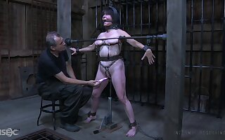 Old bitch with chubby body Femcar gets punished and humiliated in burnish apply BDSM breadth