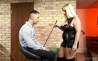 Median mature wants her nephew's dick in a rough femdom play
