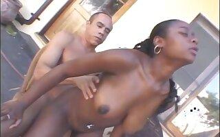 Ebony Milf fuck white  cock