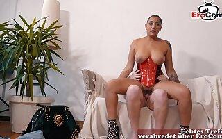 German big chest escort prostitute in latex pov