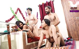 INDIAN FRIEND WIFE SWAPPING - 2 Dicks In One Chick