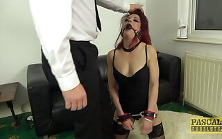 Dirty redhead slut Leanne Morehead gets verge on fucked in in all directions from holes