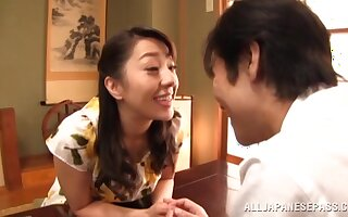 Insipid fucking with handsome Japanese MILF who loves riding