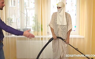Muslim maid in sickly gets hardcore penetration