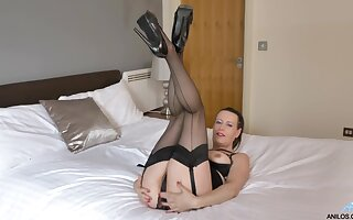 Polemical solo integument be required of mature Annabelle More playing with a dildo