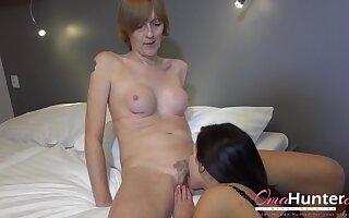 Horny Lesbian Seduced Granny Ladies Compilation