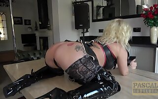 Blonde wife Princess Eve in lingerie gets fucked balls deep
