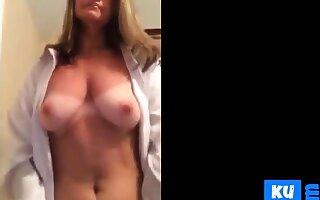 Milf Suntan lines stripping masturbation