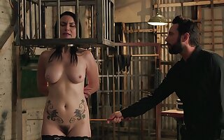 Hungry mature caged added to roughly fucked in crazy BDSM action
