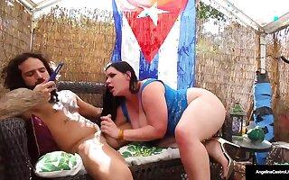 Cuban Beauty Angelina Castro Milks Her Cameraman With Scrubbed Blowjob Skills!