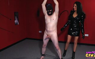 Naked guy with a mask gets dig up sucked by naughty Jess Scotland
