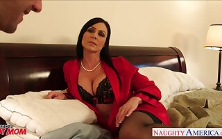 Seductive friend's mommy Kendra Lust becomes his first bird