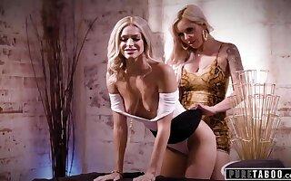 Emma Hix Seduces Egomaniac MILF King Nina Elle - blonde lesbians