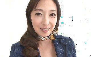 Mature pornstar Otowa Ayako loves flashing her pussy added to tits