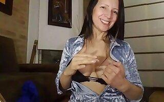 Colombian horny MILF webcam inane porn scene