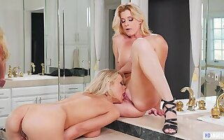 Two Blonde Sex Goddesses can To be sure go at Each Other!