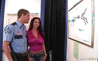 Busty mature Ava Addams sucks a detect and gets fucked from behind