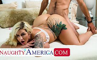 Vicious America - Busty blonde MILF Ryan Conner fucks Ryan