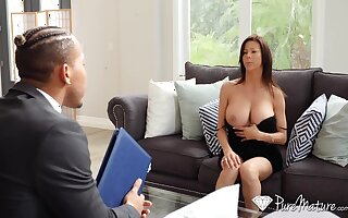 Hot student's jocular mater Alexis Fawx spreads legs nearby open and teases with yummy pussy upskirt