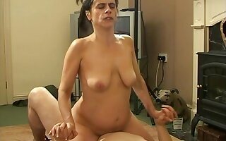 Passionate fucking with adorable amateur Anna Milf on the sofa