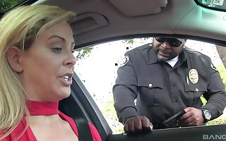 Marvelous blonde pulled over and anent fucked