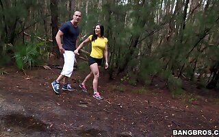 MILF Kendra Thirst for plays with her function boobs during outdoors sex