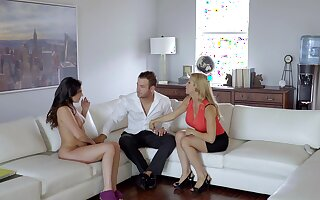 One hard cock is enough to please Alexis Fawx coupled with Brittany Shae
