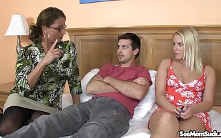 Hungry mature goes hand in hand with the stepdaughter