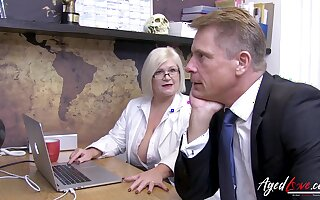 AgedLovE Busty Grown up Lacey Starr Showing Her Nudes hither Marc Kaye And is Fucked Hard