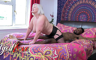 AgedLovE British Grown-up Lacey Starr Interracial Blowjob plus Harcore Sex