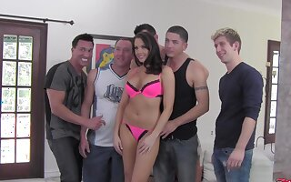 Behind someone's skin scenes be advantageous to gangbang scene filming with Chanel Preston