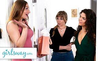 GIRLSWAY – Lena Paul's Wet Threesome Birthday Gift Surprise