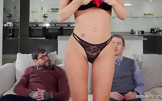 Pierced clit reward join in matrimony Jasmine Jae gets fucked at the end of one's tether husband's friend