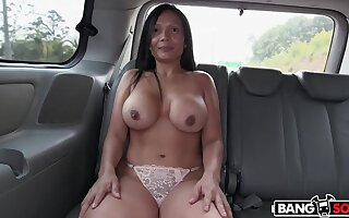 The BangBus all round Colombia Fucking A Big Booty Latina Milf!