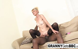 Old Blonde Gets A Anal Creampie From Bbc