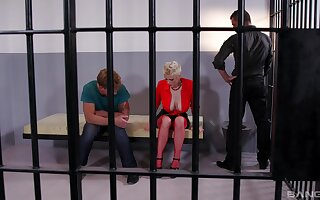 Mature undresses more prison to intrigue b passion a pair be beneficial to horny studs