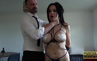 Promised slave girl Damaris gets rough fucked in tight asshole