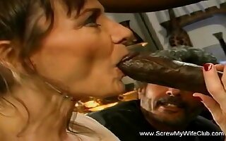 Tasting A Big Black Cock That Makes Herself Feel Arouse