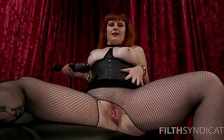 After she masturbates with fingers Barbary Rose uses a vibrator