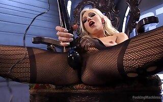 Beautiful Cameron Dee masturbates using her favorite sex toys