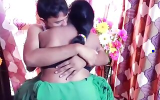 Hot maid aunty gives her big boobs to house owner son