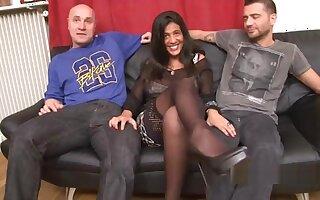 Sarah French Arab Jewish Threesome Huge Tits + Double Vaginal + Tittyfuck