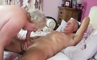 Grandpa fucking his wife very hard with his long Dick