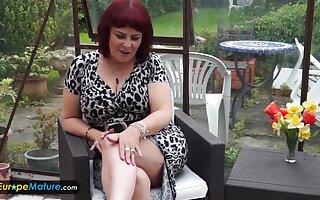EUROPEMATURE - Cute mature Christina shaking her big boobs