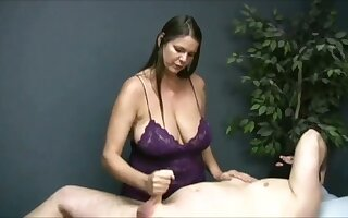 In trouble me beyond watching that buxom masseuse banneret off her client beyond camera