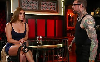 Required more and suspended babe Skylar Snow gets double penetrated