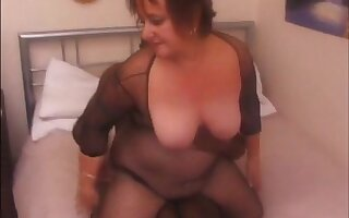 Big grandma fucked by black bull while hubby recounting get facial
