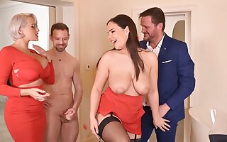 Thick MILF Foursome (Softcore)