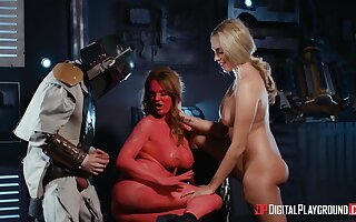 Hot beauties share their kinky role carry on in a flawless XXX