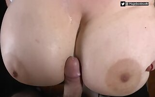Huge boobs wed Gives A Lazy Titfuck